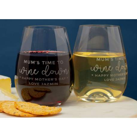 Mothers Day Wine Glasses