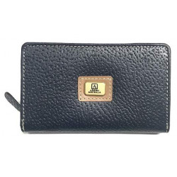 Navy Kangaroo Leather Coin Purse - Rectangular