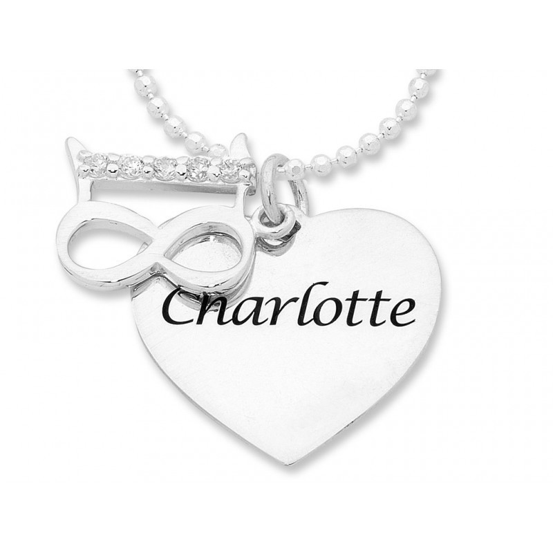 18th Birthday Personalised Heart Necklace