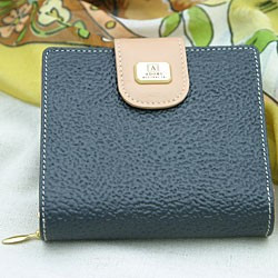 Ladies Wallet - Navy Kangaroo Leather